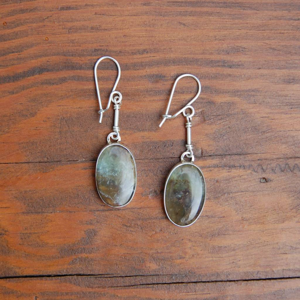 """Betty"" Nelly Sanchez Loor Andean Opal Earrings"