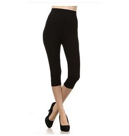 M Rena Tummy Tuck Cropped Leggings by M Rena - Black