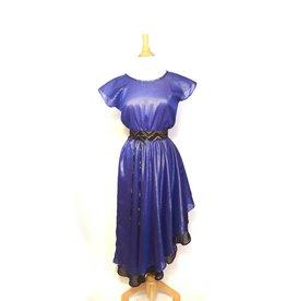 Sarah Bibb Nora Dress - Double Layer Cobalt Stripe