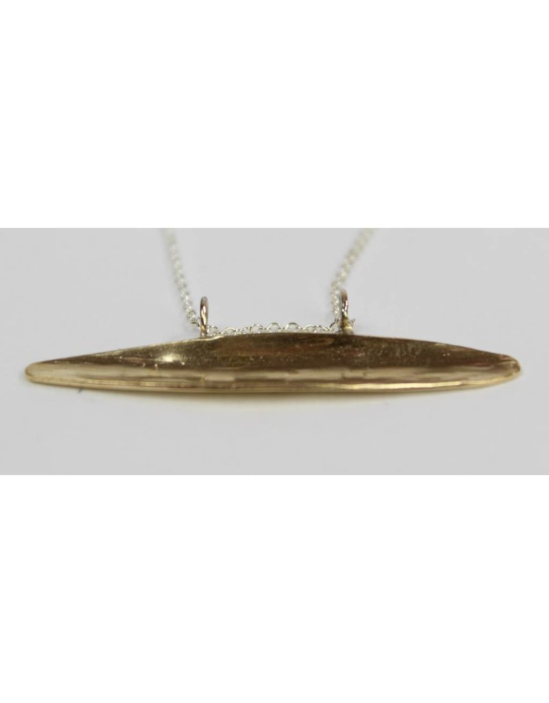 Kiersten Crowley Pod Necklace - Brass