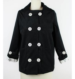 Sarah Bibb Mundy Jacket - Black Corduroy