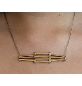 Kiersten Crowley Levels Necklace - Brass