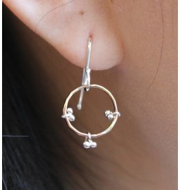 Kiersten Crowley Freya Circle Earrings- Multiple Colors