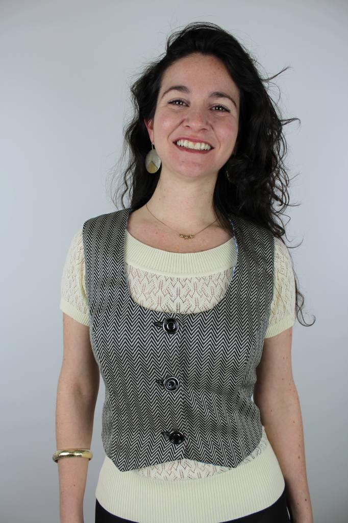 Sarah Bibb Anna Vest - Herringbone