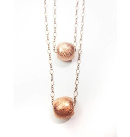Mon Coeur Venteux Double Layer Copper Bead Necklace
