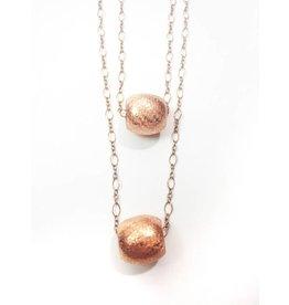 Mon Coeur Venteux Double Layer Copper Bead Necklace