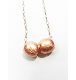 Mon Coeur Venteux Double Copper Bead Necklace