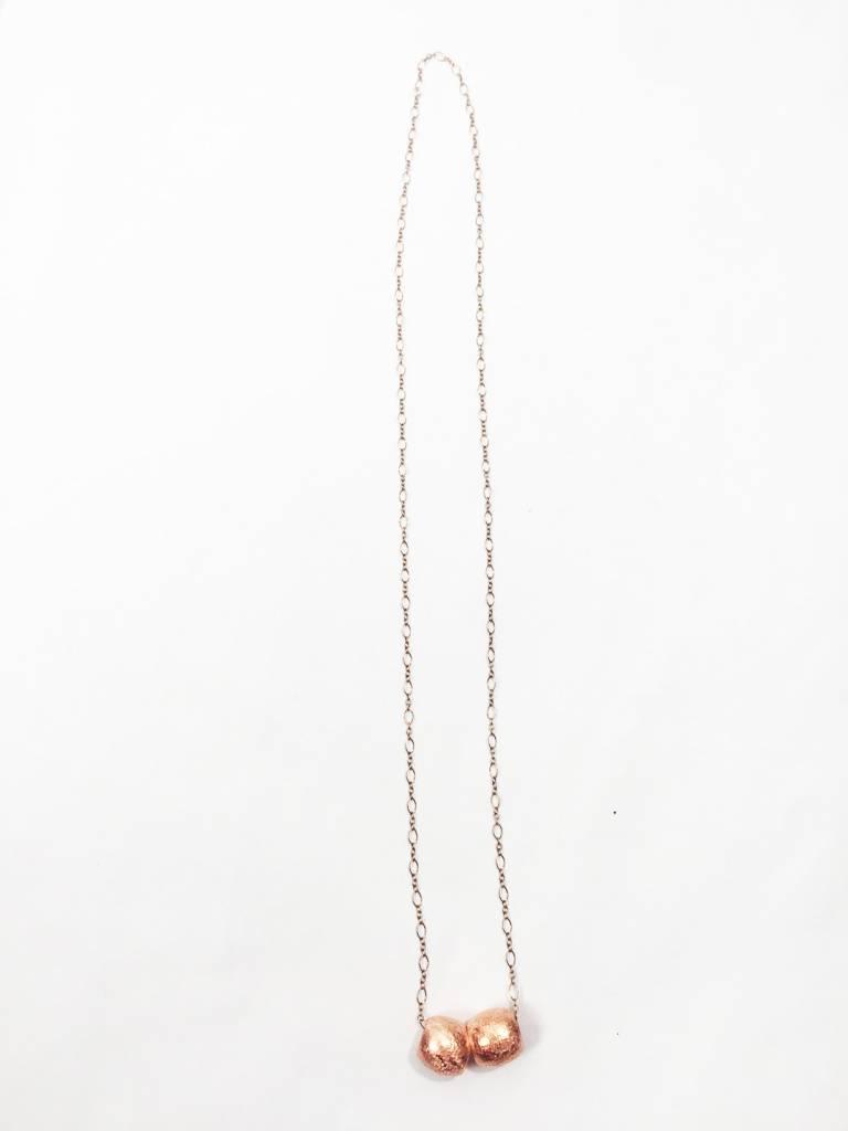 Mon Coeur Venteux Double Copper Bead Necklace