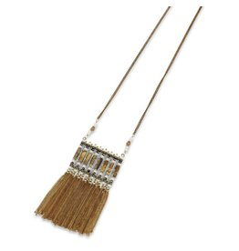 Elise M. Luna Square Tassel Necklace- Multi