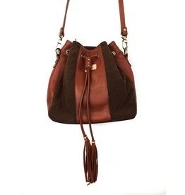 Fredd & Basha Tango Patched Sling Bag - Brown