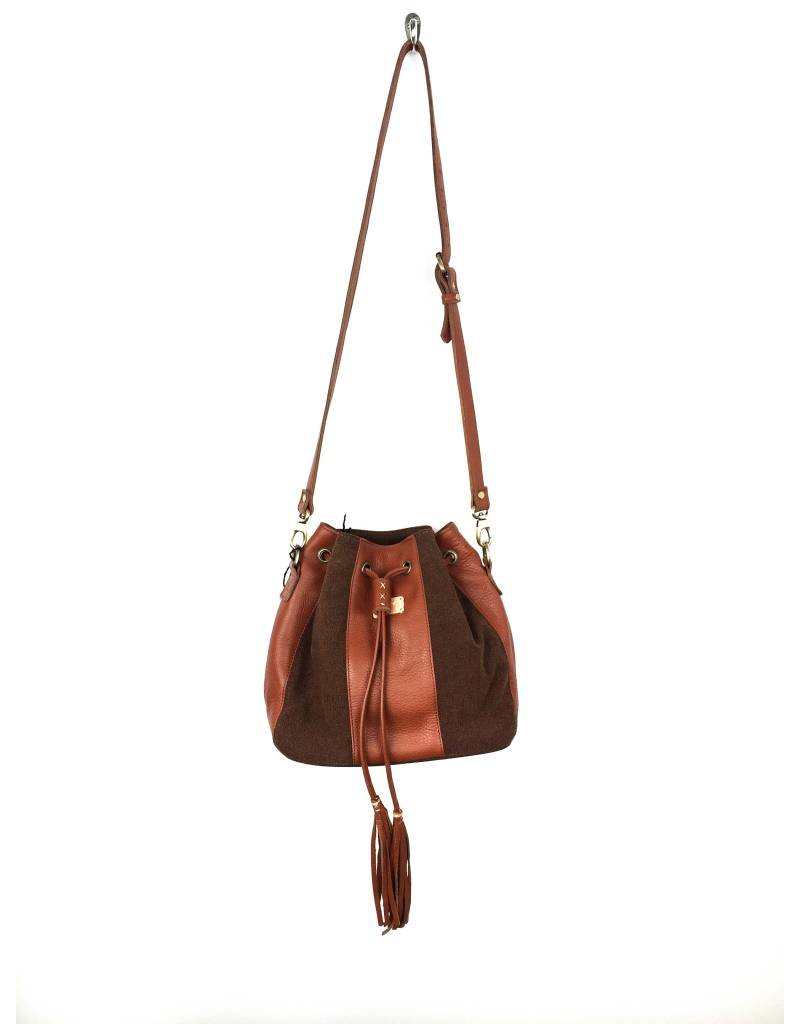 Fredd & Basha Tango Patched Sling Bag - Brown - FOLLY