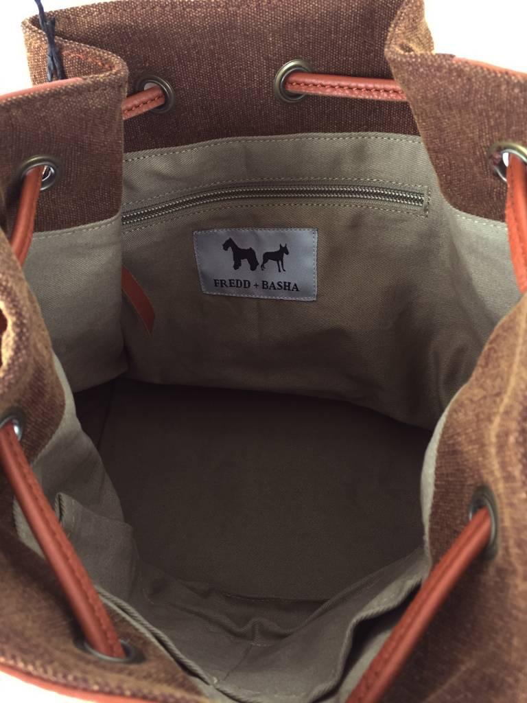 Fredd & Basha Tango Patched Sling Bag - Brown