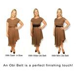 Sarah Bibb Mini Obi Belt  - Periwinkle