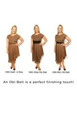 Sarah Bibb Obi Belt  - Dark Brown