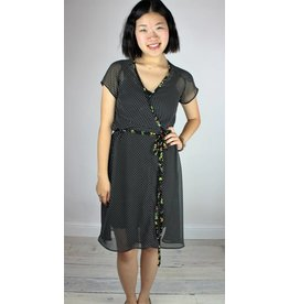 Sarah Bibb Emily Wrap Dress - Black Dot