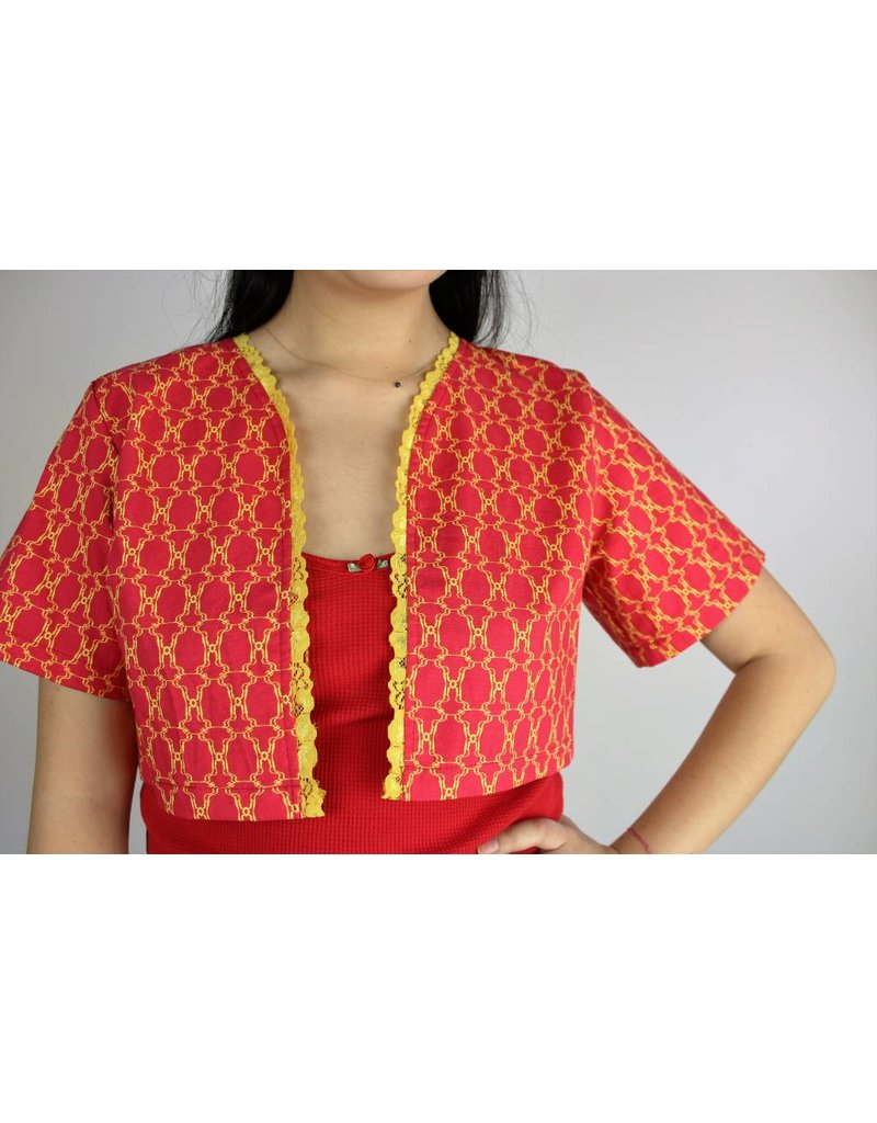 Sarah Bibb DeDe Cropped Jacket - Red Urn