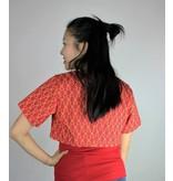 Sarah Bibb DeDe Cropped Jacket - Red Urn