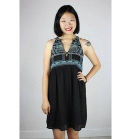 Embroidered Halter Sun Dress