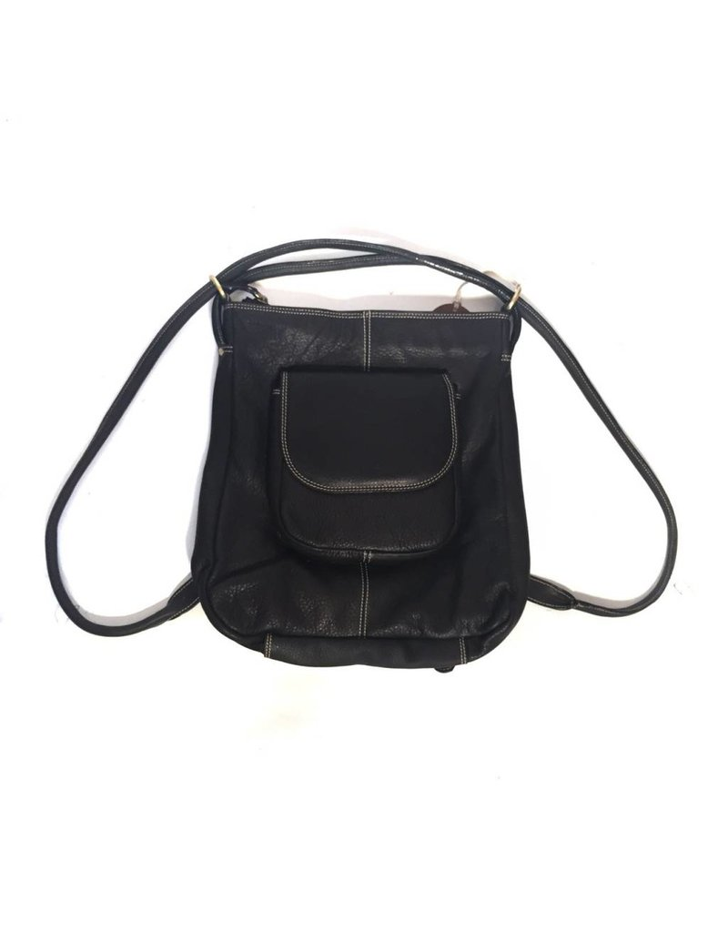 Fredd & Basha Convertible Tote Backpack - Black