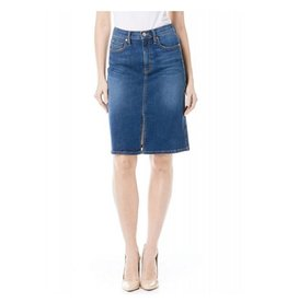 Level 99 Penny Hi-Waist Skirt - Sky Line