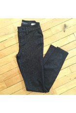 Level 99 Janice Mid-Rise Skinnies - Black Snake