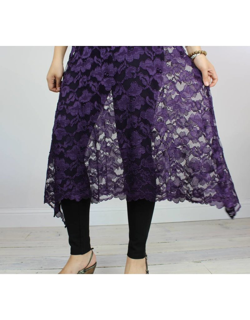 Sarah Bibb Syd Skirt Long - Purple Lace