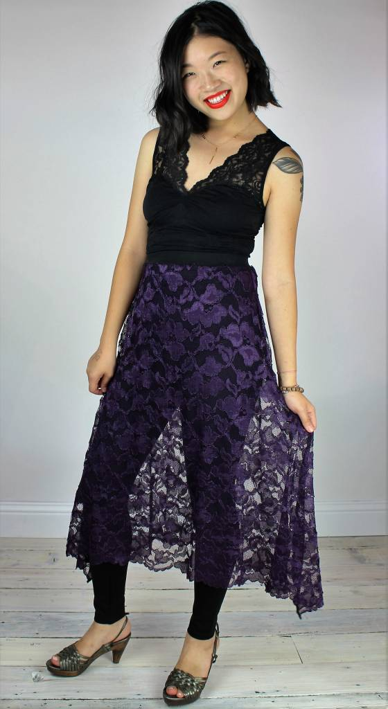 Sarah Bibb Syd Skirt Long - Purple Lace