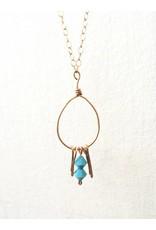 Mon Coeur Venteux Turquoise Oval Necklace
