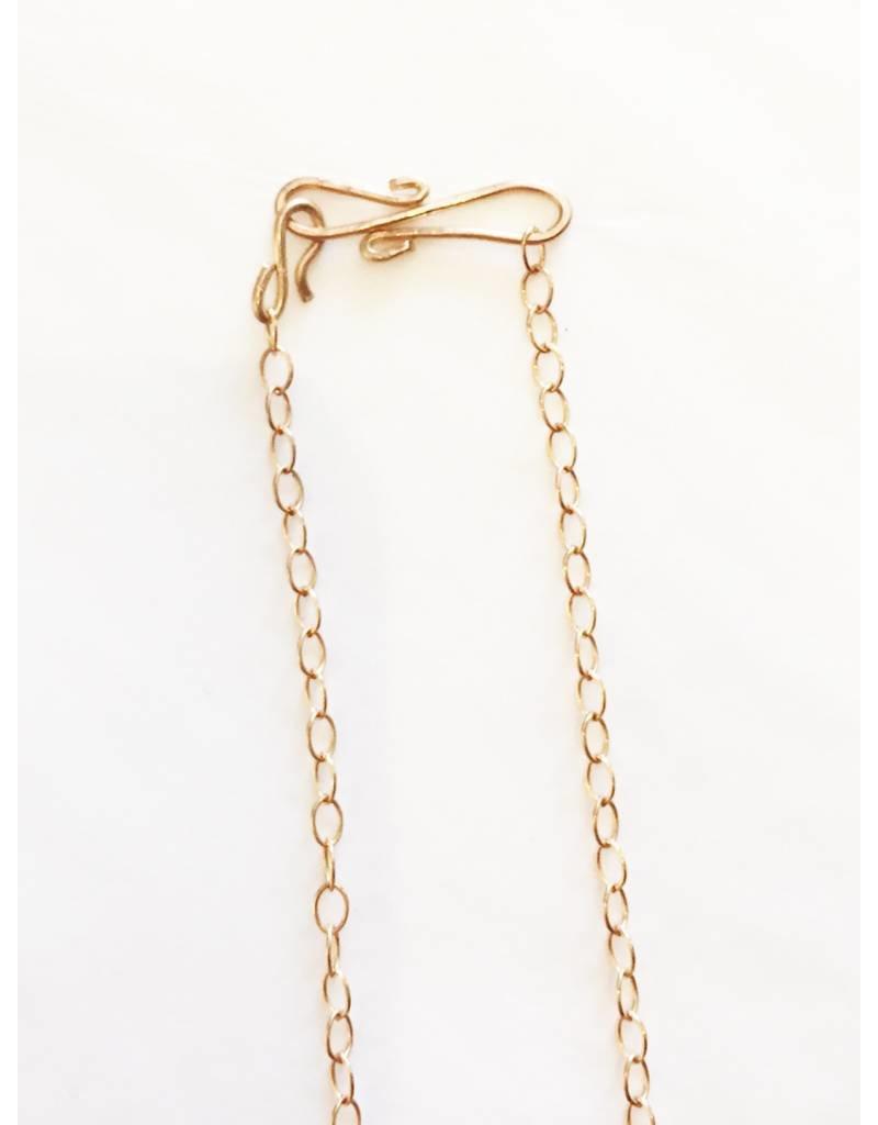 Mon Coeur Venteux Brass and Black Tear Drop Necklace
