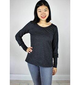 Sarah Bibb Kendra Top - Charcoal Wool