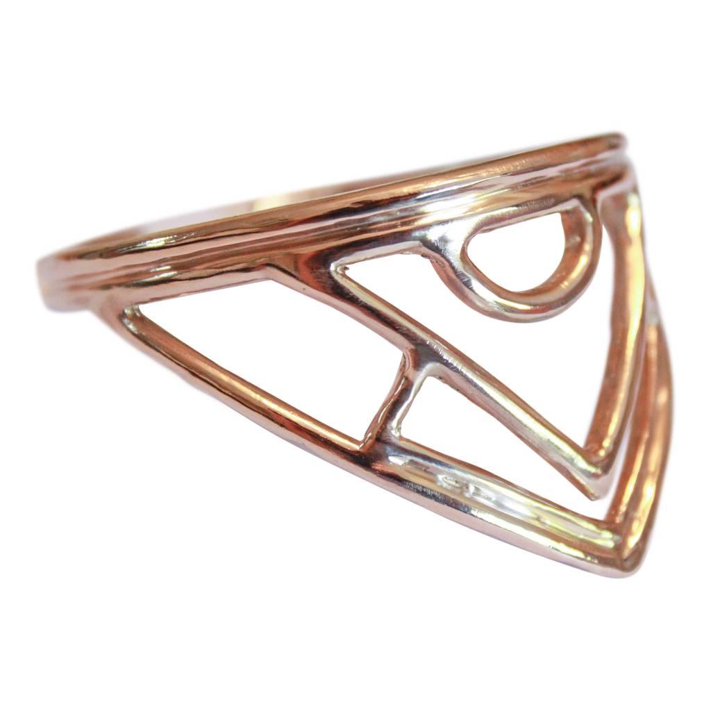 Elisha Marie Eos Carved Bracelet in Bronze