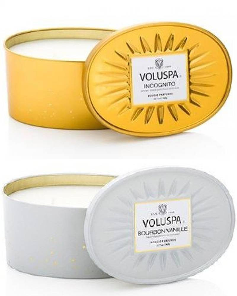 Voluspa Two Wick Decorative Tin - Multi