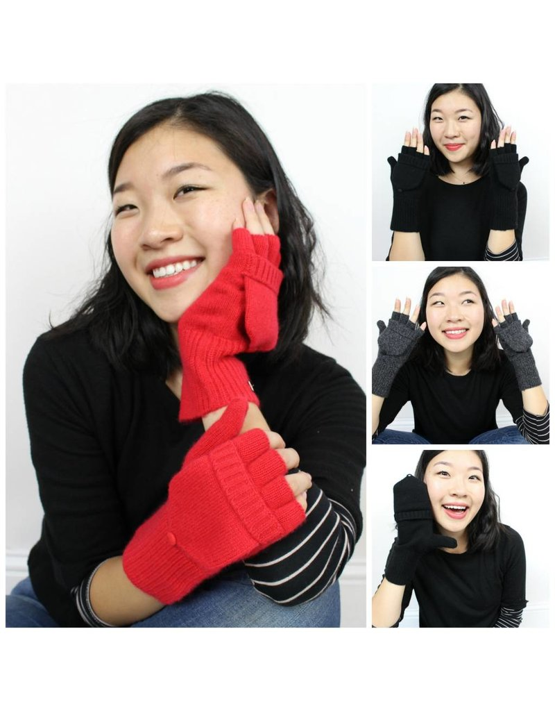 Cashmere Pop-Top Mittens - Multiple Colors