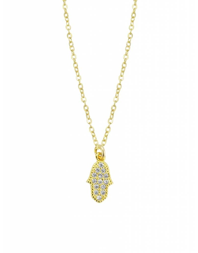 Katie Dean Jewelry Hamsa Hand Necklace