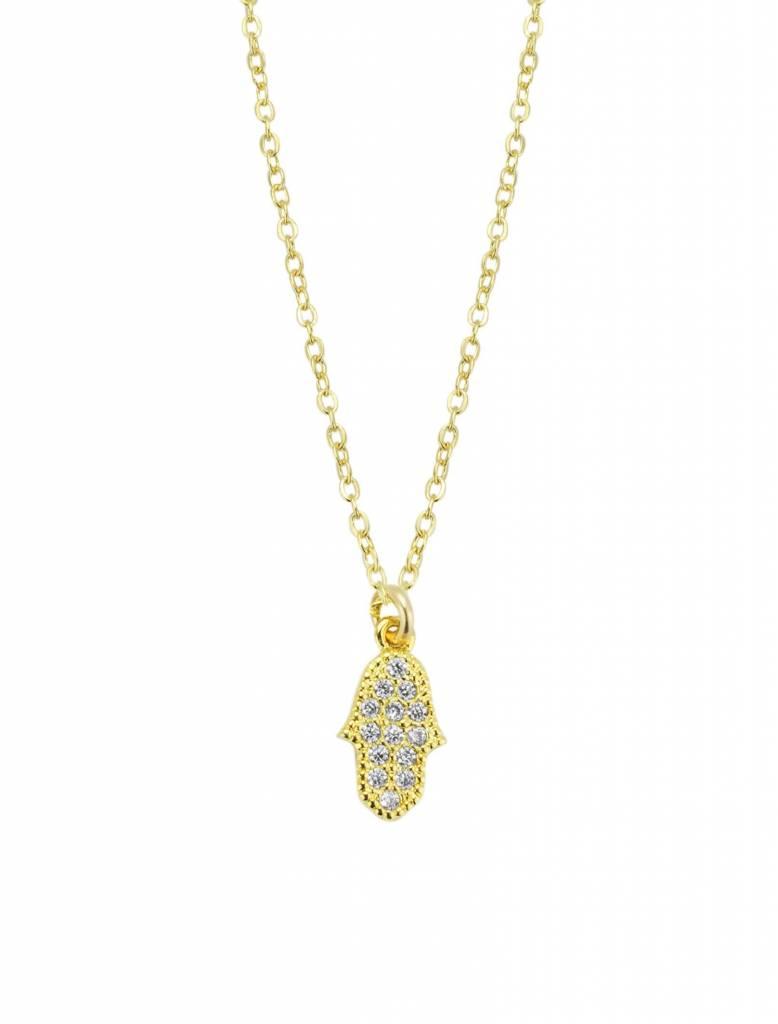 Katie Dean Jewelry Hamsa Hand Necklace