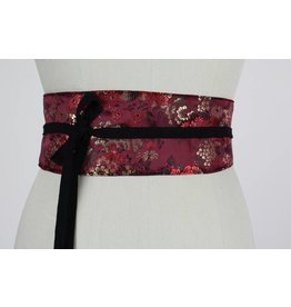 Sarah Bibb Obi Belt - China Wine