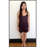 Sarah Bibb Morgan Cami and Short Lounge Set - Purple Paisley
