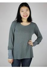 Sarah Bibb Kendra Tunic - Soft Grey Stripe