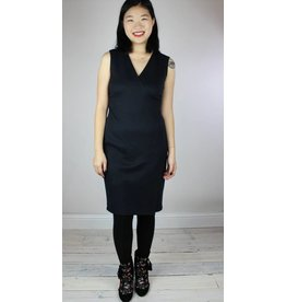 Level 99 Janet Wrap Dress - Black