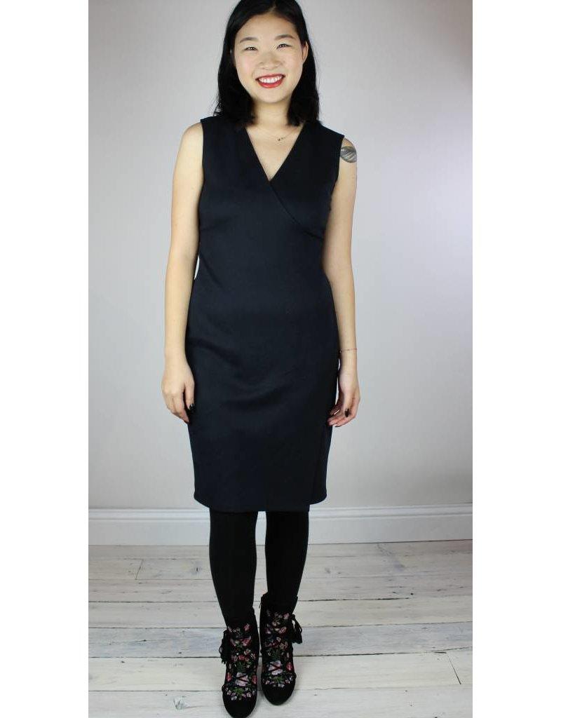 Level 99 Janet Wrap Dress - Black