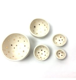 Mini Nesting Bowls - Gold Dot
