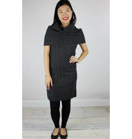Rose Over the Shoulder Dress - Coal Mouline
