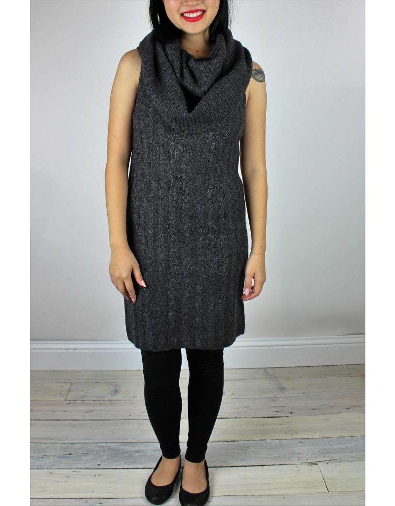 Rose Over the Shoulder Dress - Coal Mouline
