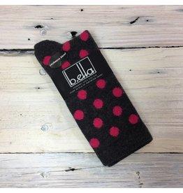 B. Ella Pink Dot Cashmere Blend Crew Socks