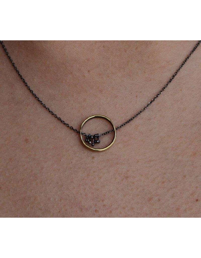 Kiersten Crowley Freya Circle Necklace - Multi