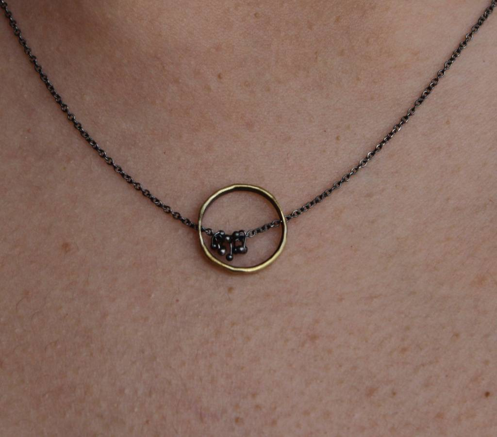 Kiersten Crowley Freya Circle Necklace - Multi