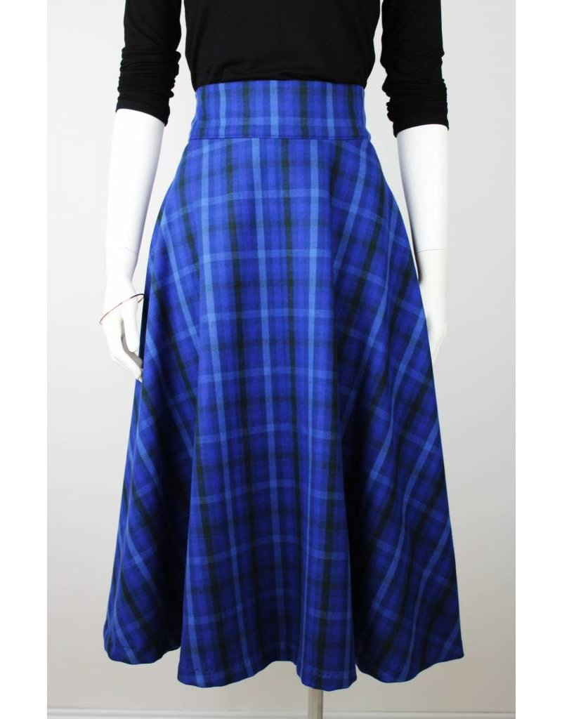 Sarah Bibb Zoe Circle Skirt - Blue Plaid