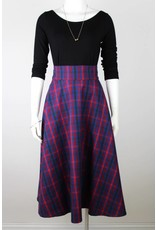 Sarah Bibb Zoe Circle Skirt - Red Plaid