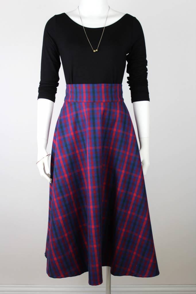 Sarah Bibb Zoe Circle Skirt - Red Plaid