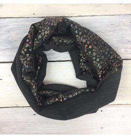 Sarah Bibb Single Loop Infinity Scarf - Black Floral